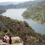 Ferrous and I overlooking Lake Berryessa.<br /> (This is a scanned 35mm film photograph and since I am in it, I did not take it, this was courtesy of my best friend Chamnan.)